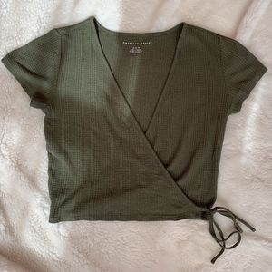 NWOT American Eagle Wrap Front Top
